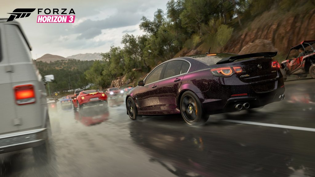 Wet Highway in Forza Horizon 3
